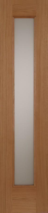 Oak Contemporary Acid Glass Sidelight