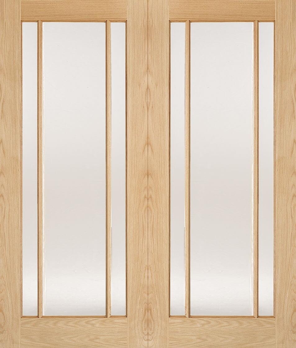 Oak LINCOLN Pair Glazed