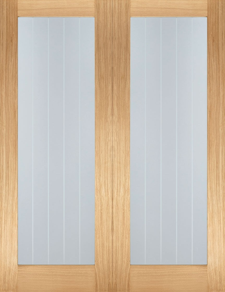 Oak Mexicano Pair (Clear with Frosted Lines)