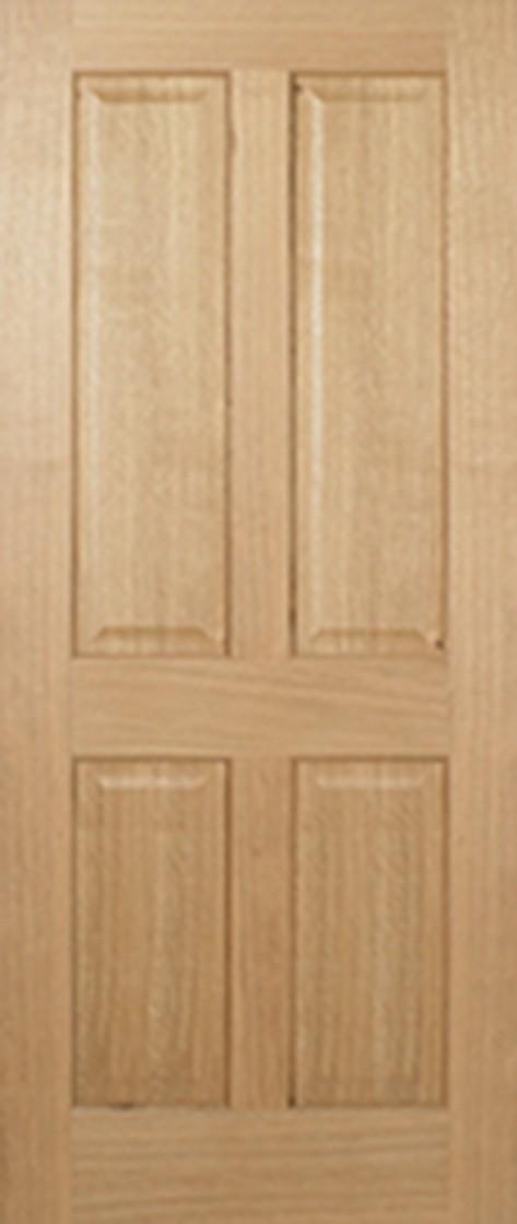 Pre-Finished Oak REGENCY 4P Fire Door