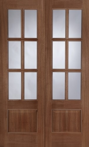 Hampstead Rebated (RHPO) Pair External Hardwood Unglazed