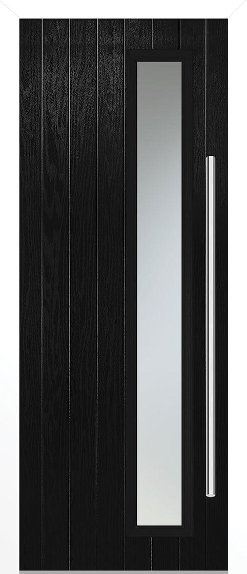 Shardlow Black Satin Double Glazed External Composite Door Sets