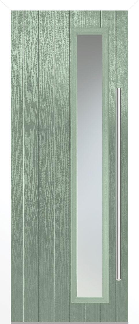 Shardlow Chartwell Green Satin Double Glazed External Composite Door Sets