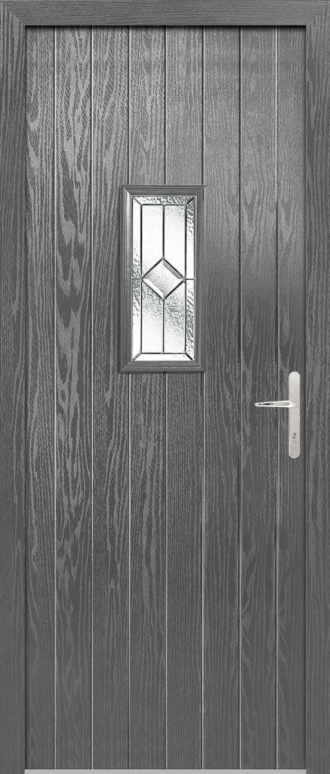 Speedwell Grey Lead Double Glazed External Composite Door Sets