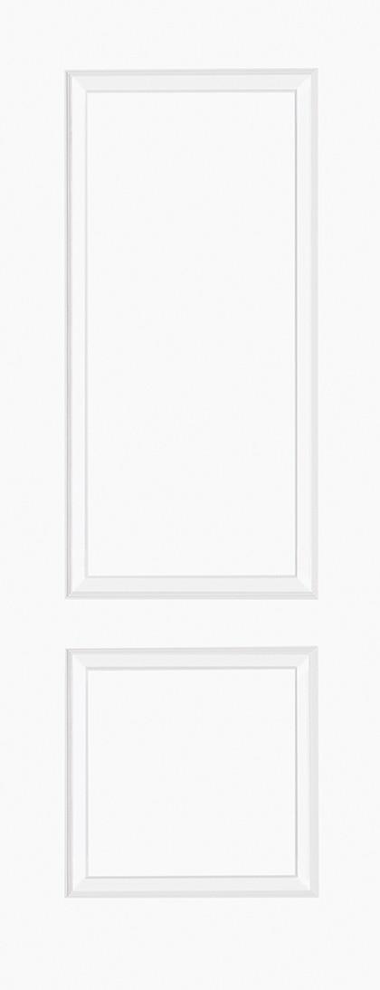 White Moulded BRUGES 2 Panel