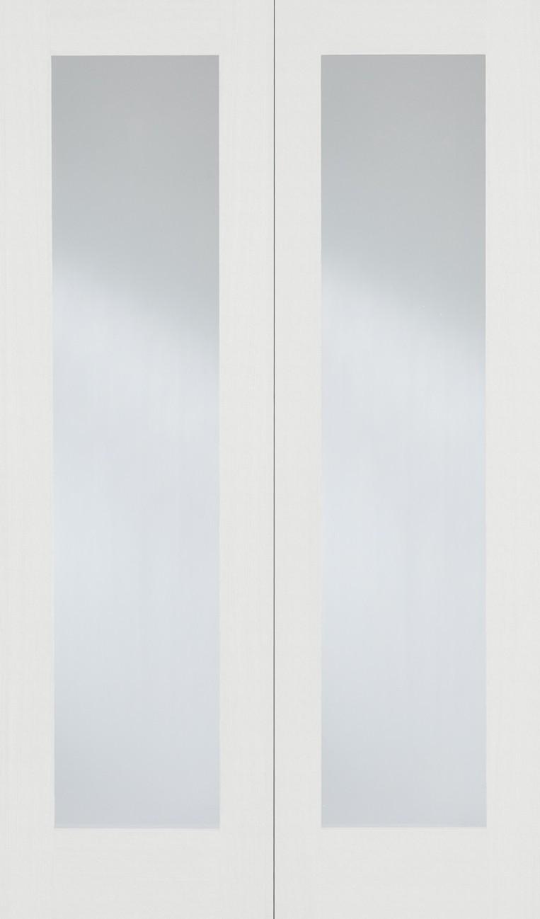 White PATTERN 20 Glazed Pair