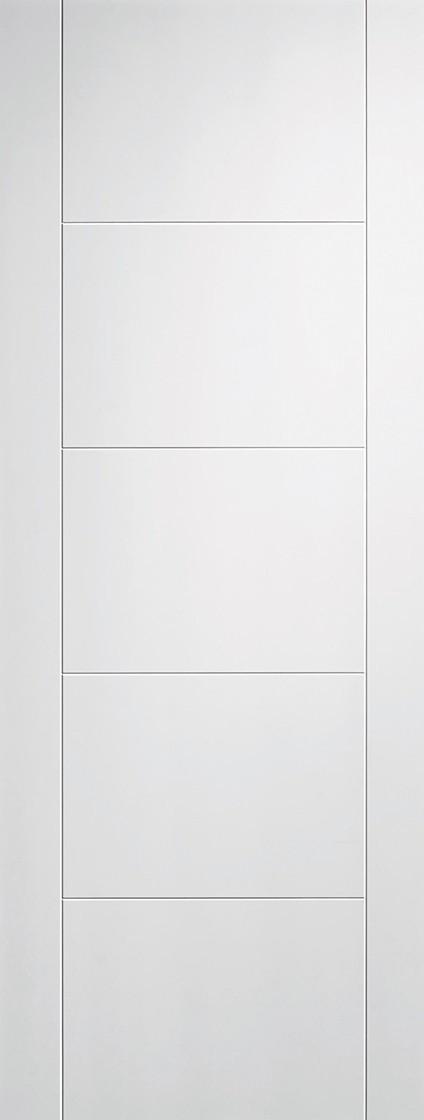 White Vancouver 5 Panel Fire Door
