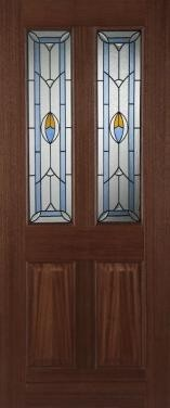 Hardwood Edwardian Blue External Hardwood M&T Doors Glazed