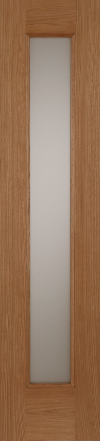 Oak Contemporary Acid Glass Sidelight
