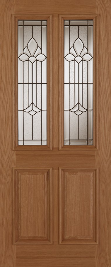 Oak Derby Camillian Leaded Double Glazed)
