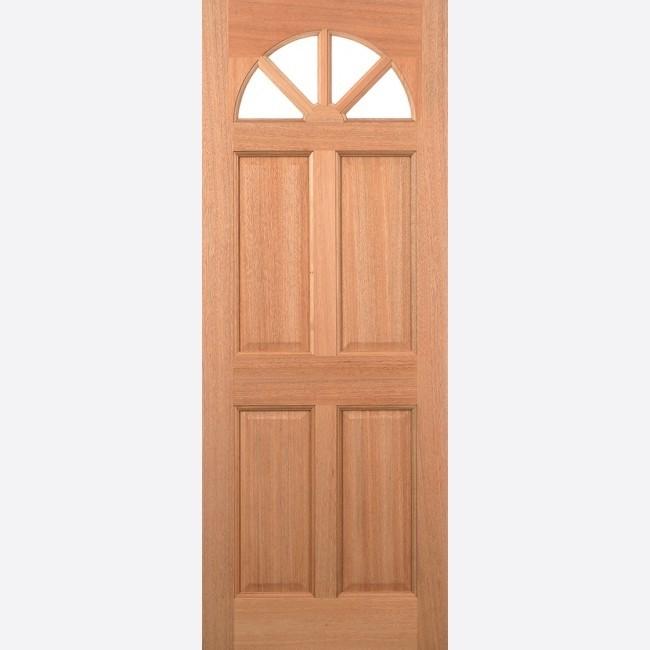 EXTERNAL HARDWOOD DOORS UN-GLAZED CAROLINA 4P M&T