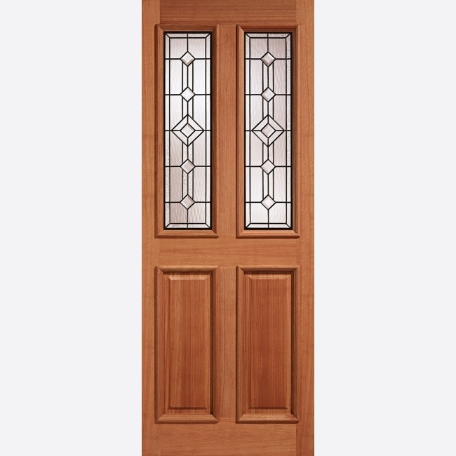 EXTERNAL HARDWOOD DOORS GLAZED DERBY GLAZED 2L LEADED