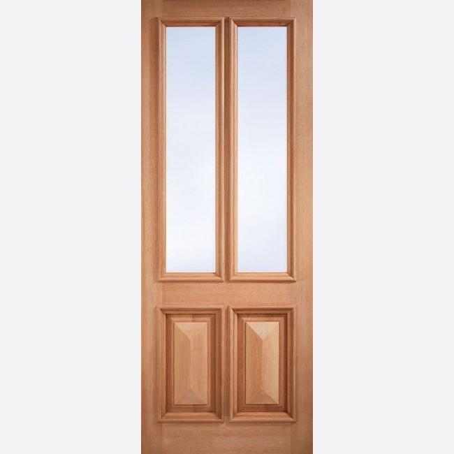 EXTERNAL HARDWOOD DOORS GLAZED ISLINGTON UNGLAZED
