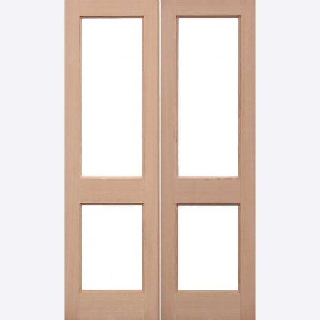 EXTERNAL HEMLOCK DOORS UN-GLAZED UNGLAZED 2XGG PAIRS