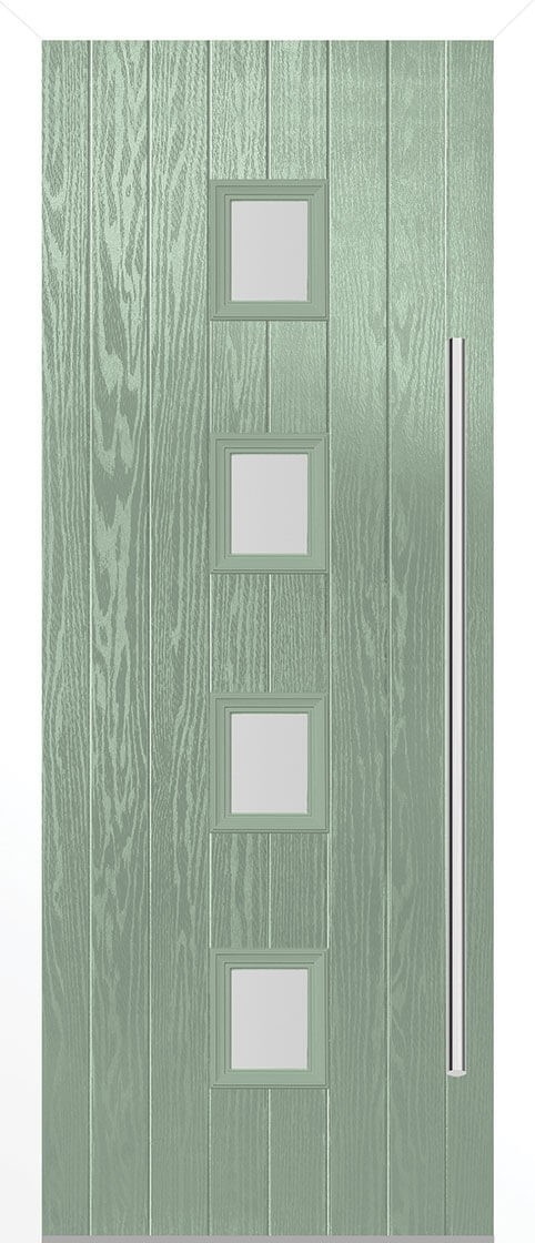 Milton Chatwell Green Satin Double Glazed External Composite Door Sets