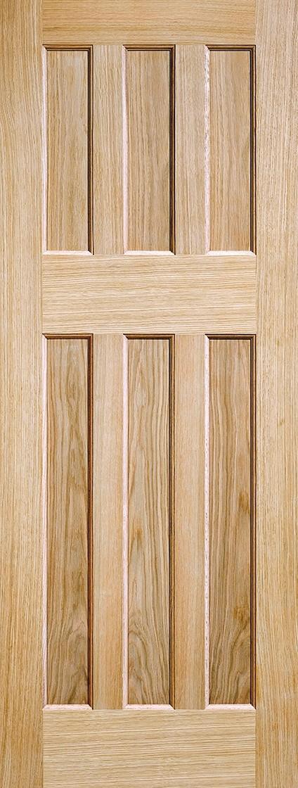 Oak DX 60's Style Fire Door