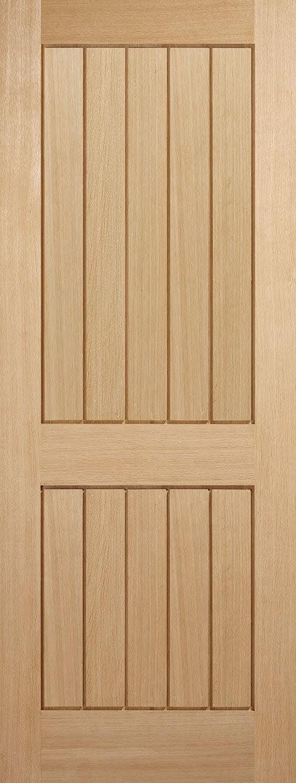 Oak Mexicano 2 Panel Fire Door