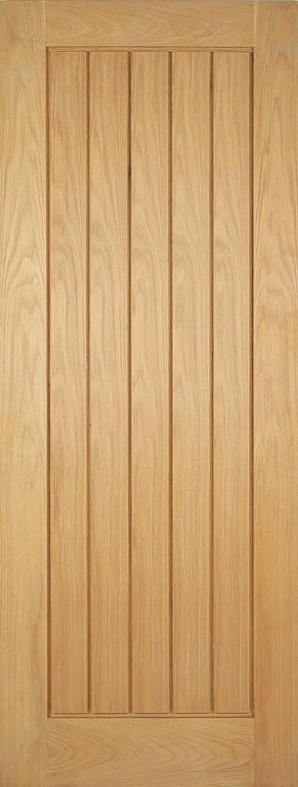 Pre-Finished Oak Mexicano  Fire Door
