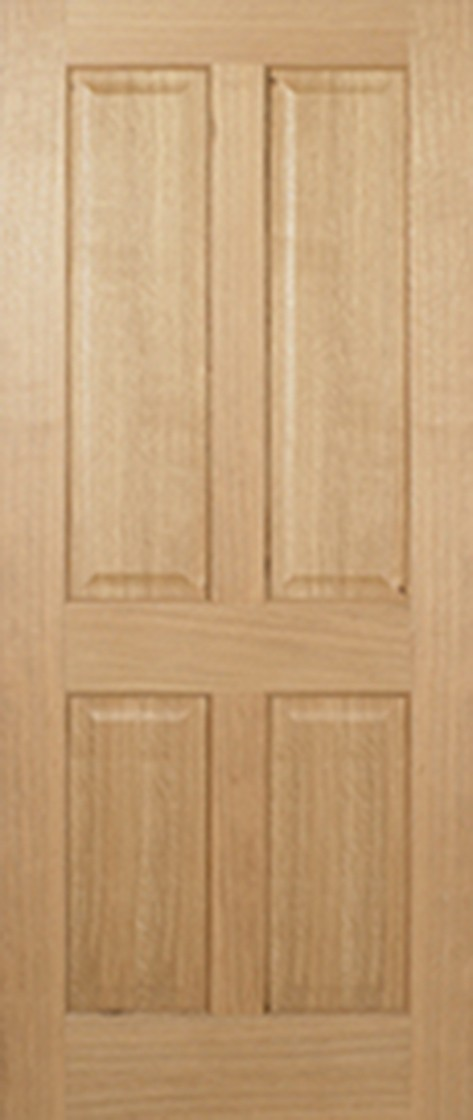 Oak REGENCY 4 Panel Fire Door