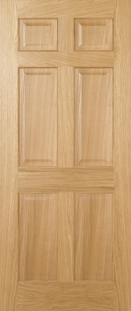 Pre-Finished Oak REGENCY 6P Fire Door