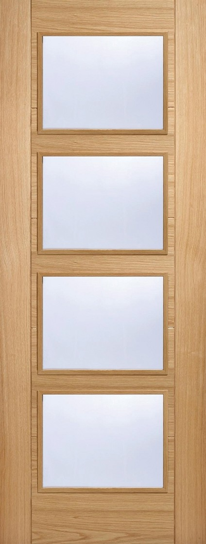 Oak Vancouver 4 Light Fire Door