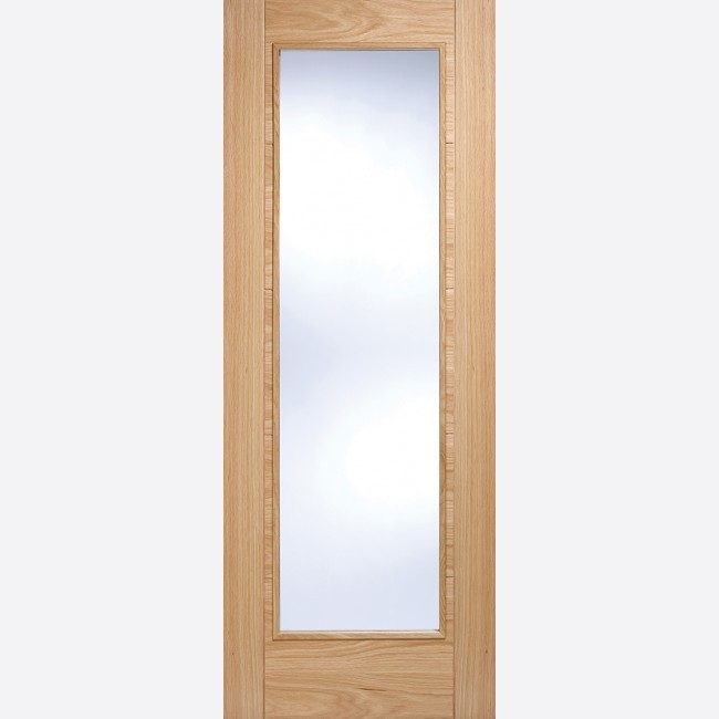 INTERNAL PRE FINISHED OAK FIRE DOORS (Glazed) OAK VANCOUVER PATTERN 10