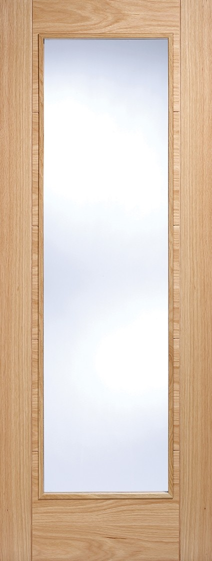 Oak Vancouver Pattern10 (Clear Glass) Fire Door