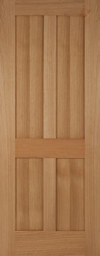Oak Flat 4 Panel Bristol FD30
