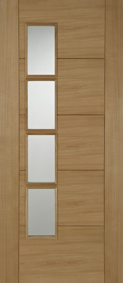 Oak ISEO Quarter Cut Veneer Off Set 4 Light Glazed Pre-Finished