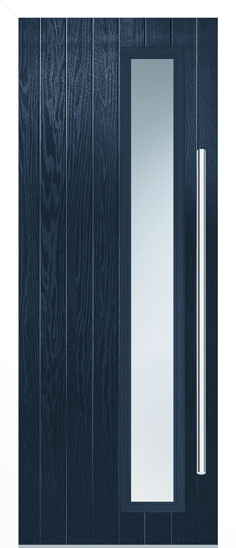 Shardlow Blue Satin Double Glazed External Composite Door Sets