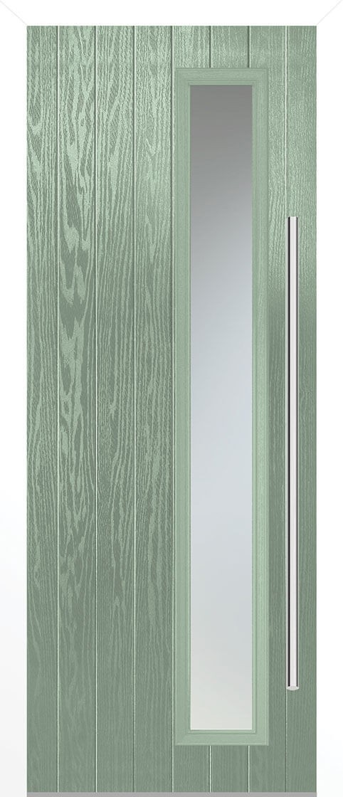 Shardlow Chartwell Green Satin Double Glazed External Composite Door Sets