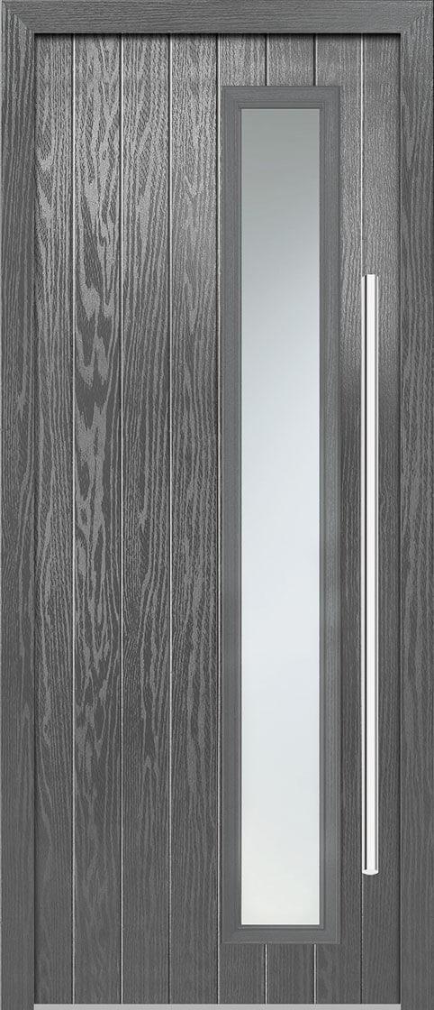 Shardlow Grey Satin Double Glazed External Composite Door Sets