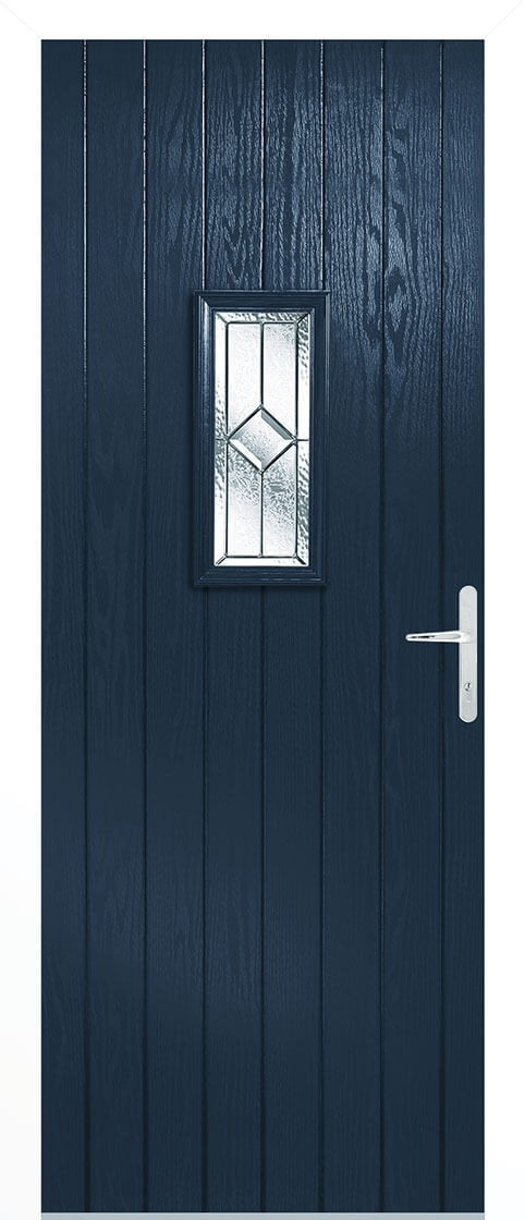 Speedwell blue Lead Double Glazed External Composite Door Sets