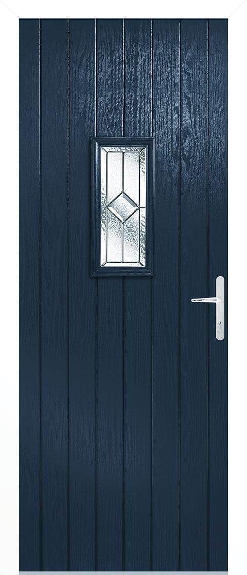 Speedwell blue Lead Double Glazed External Composite Door Sets