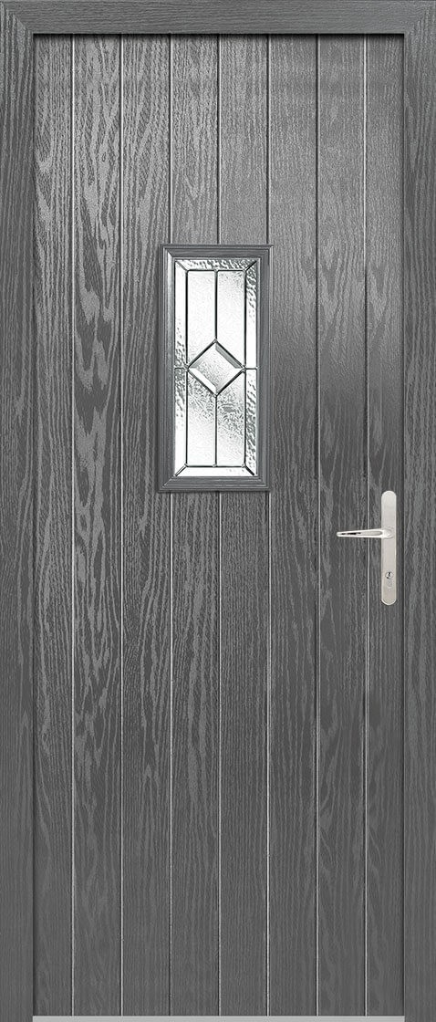 Speedwell Grey Lead Double Glazed External Composite Door Sets