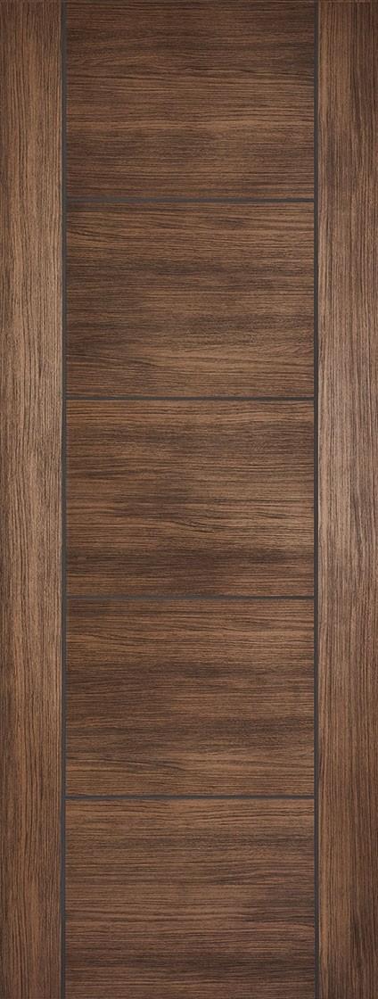 Walnut VANCOUVER Laminated Fire Door