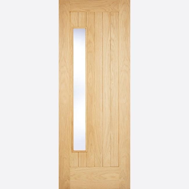 EXTERNAL OAK DOORS GLAZED WARMER DOOR PART L NEWBURY