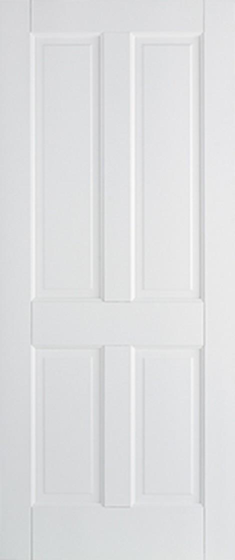 White Canterbury 4 Panel Fire Door