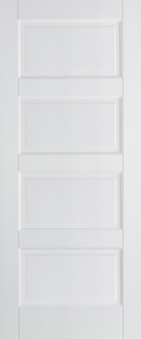 White Contemporary 4Panel Fire Door