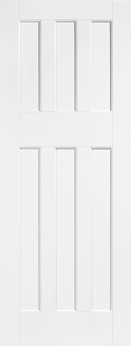 White 60's Style Fire Door