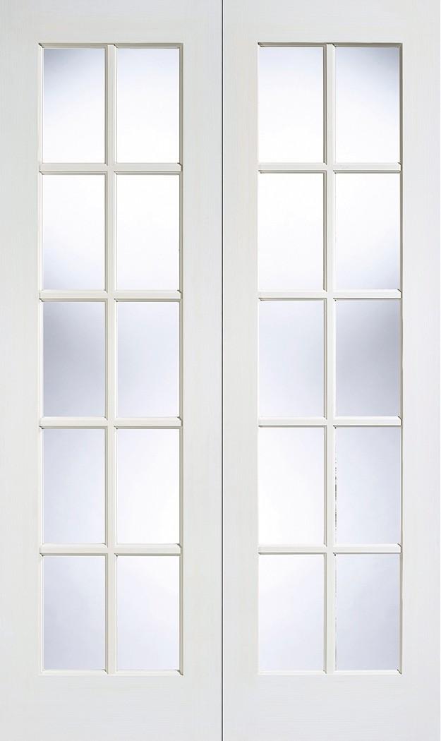 White GTP SA Glazed Pair