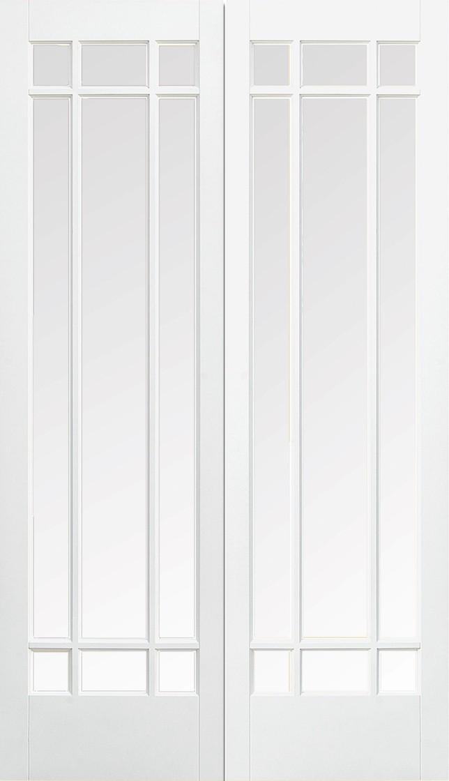 White MANHATTAN Glazed Pair