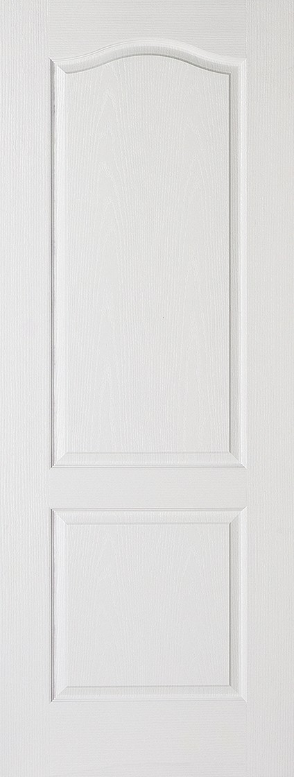 White CLASSICAL 2 PANEL Fire Door