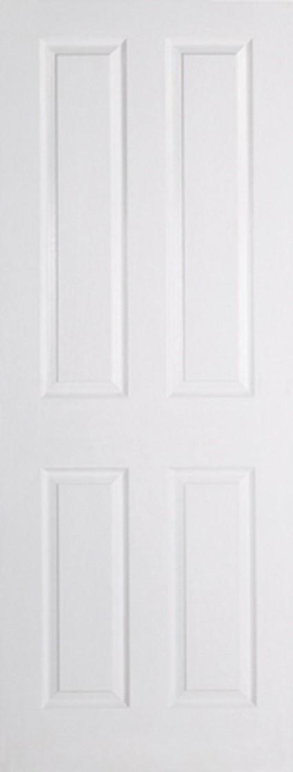 White TEXTURED 4 Panel Fire Door
