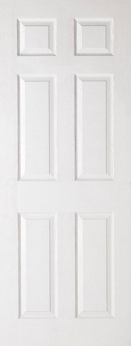 White SMOOTH 6 Panel Fire Door