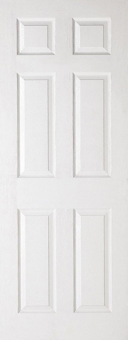 White TEXTURED 6 Panel
