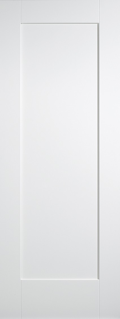 White Shaker 1 Panel Fire Door