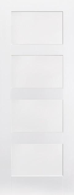 White Shaker 4 Panel